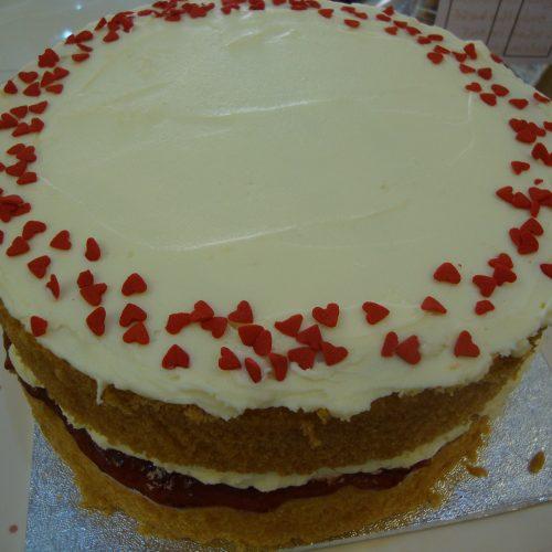Homemade Raspberry Conserve Victoria Sponge