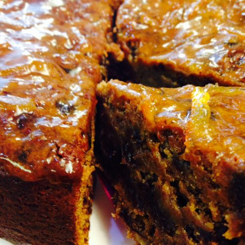 CAKE PRUNE, FRUIT, PECAN MARMALADE CAKE