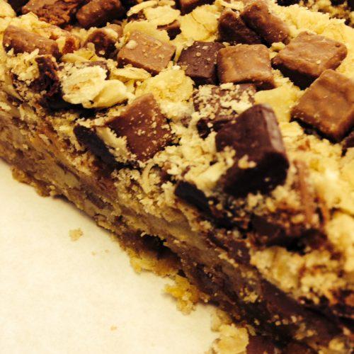 Peanut Belgium Chocolate Slice