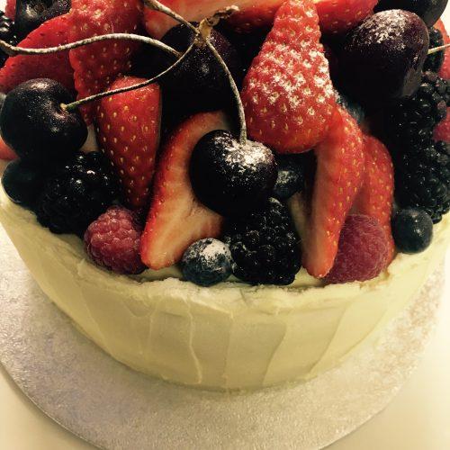 Fresh Fruit Victoria Cake