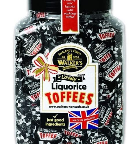 WALKERS LIQUORICE TOFFEES JAR